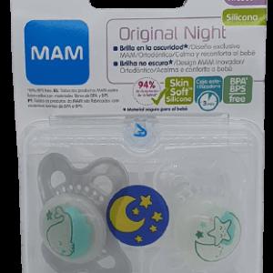 Chupete original night silicona neutro 0+ Mam